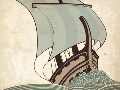 Ancient Ship illustration boat ship