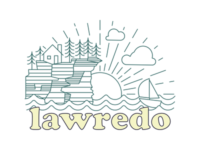 Lawredo airbnb wisconsin up north typography vector ux branding design logo illustration