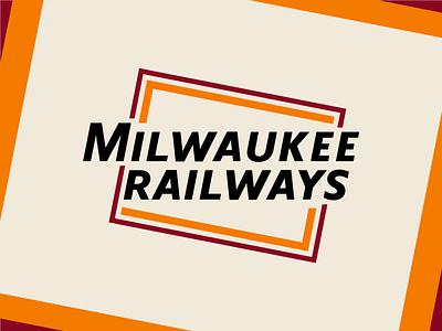 Milwaukee Railways travel logo iconic burgundy orange rebrand transit train railroad railway milwaukee