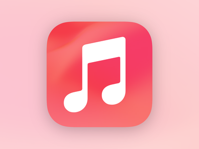 iOS 14 Music Icon texture red music apple music apple bigsur icon