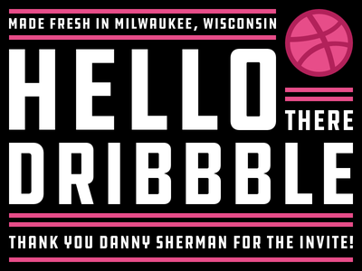 Hello Dribbble! poster typography hello dribbble debut