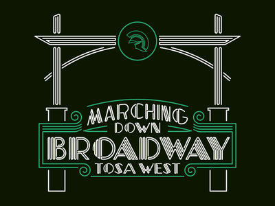 Marching Band Shirt (Front) neon sign broadway wauwatosa west trojans shirt marching band