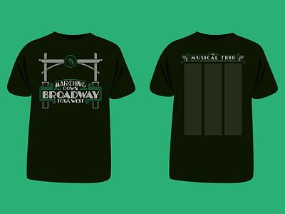 Marching Band Shirt (Mockup Tee) neon sign broadway wauwatosa west trojans shirt marching band