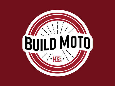 DesignMil 2017 - BUILD Moto Sticker sticker build moto 2017 designmil