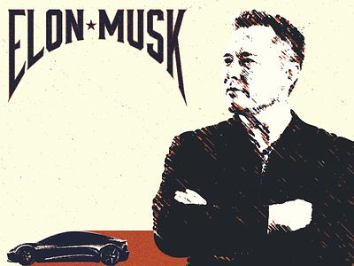 Inspirational Figures Poster - Elon Musk poster inspriational figures tesla elon musk