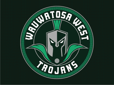 🎵West side, is the Best side; East side, is the Least side 🎵 typography design trojans illustration logo wauwatosa west