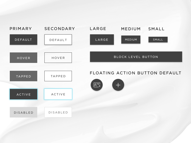 Buttons design system style guide call to action buttons
