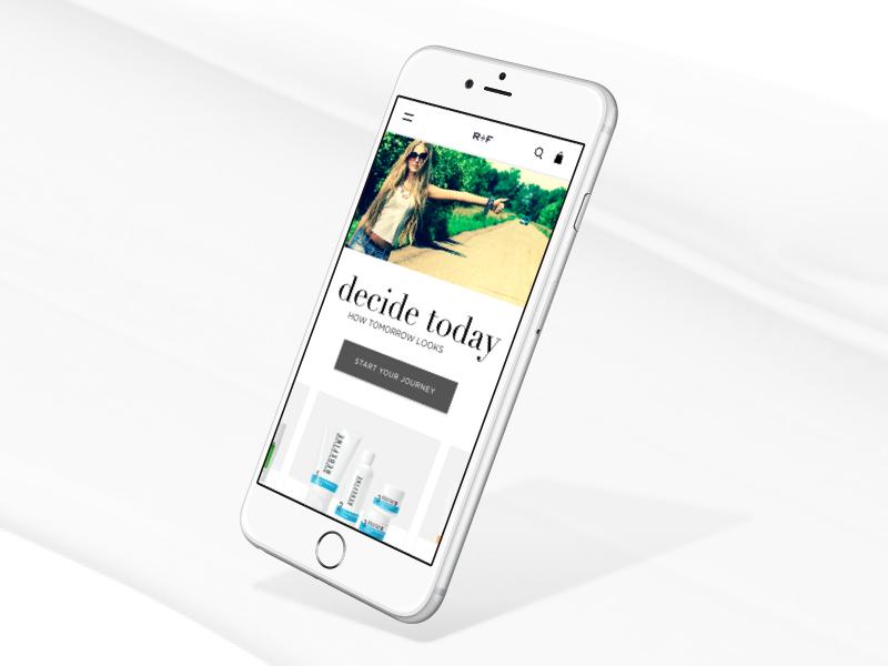 Mobile Homepage Exploration responsive ui phone homepage ecommerce mobile
