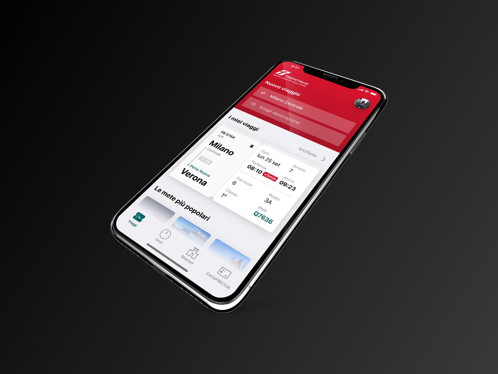Train App Concept app design ux ui train app