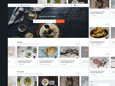Recipes Layout design webdesign recipe food