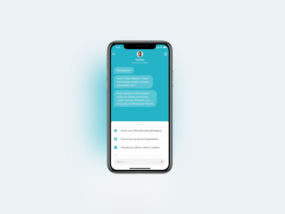Medical BOT interaction design inteface mobile app bot ux ui