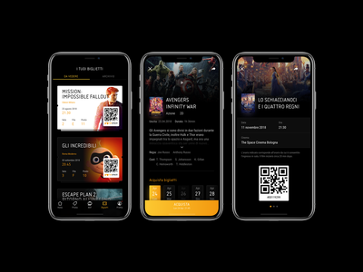 Cinema App ux ui mobile app cinema