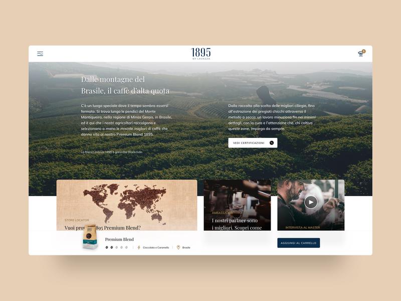 Coffee experience website webdesign landingpage coffee