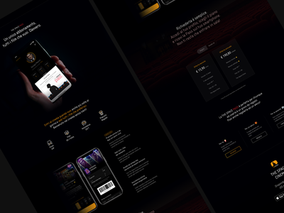 Cinema Pass landing page webdesign cinema