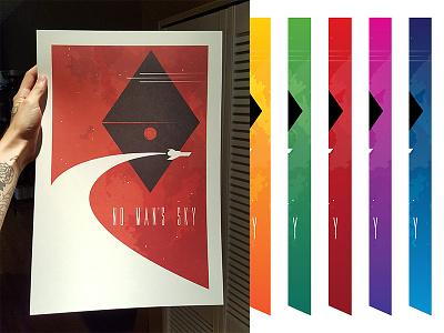 NMS Color samples no mans sky scifi space atlas minimalistic poster print illustration