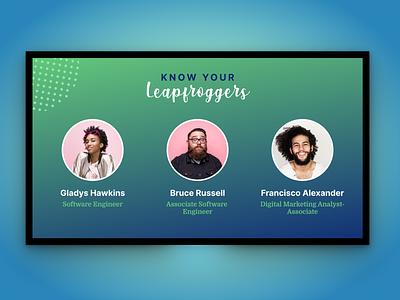 Know Your Leapfroggers - TV App internal project tv app tv app ux design ui