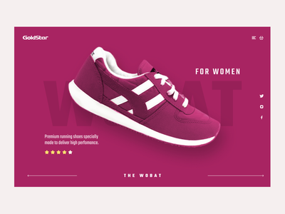 Goldstar - Women's Sport Shoes shopping ecommerce product page landing page ux ui web design nepal shoes