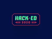 Hack-ed Logo type logo logodesign hack event logo education logo hacked hack-ed hackathon logo hackathon logo branding logo design
