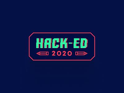 Hack-ed Logo type logo logodesign hack event logo education logo hacked hack-ed hackathon logo hackathon logo branding logo design