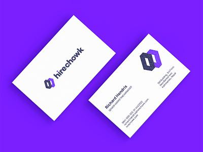 Hirechowk graphic design visiting card brand identity branding businesscard