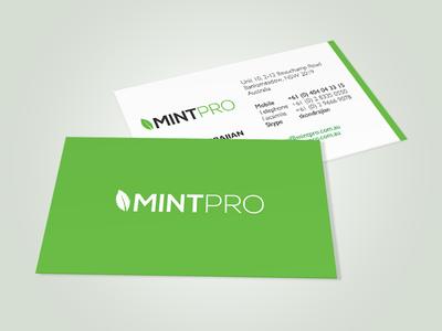 MintPro Business Card - Proposed Version