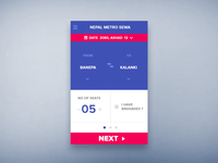Nepal Metro Train App - Concept