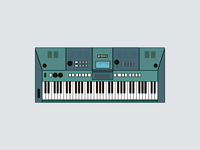 Yamaha Piano Keyboard - Illustration