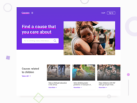Causes - Charity Website UI