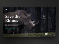 Save the Rhinos - Landing Page