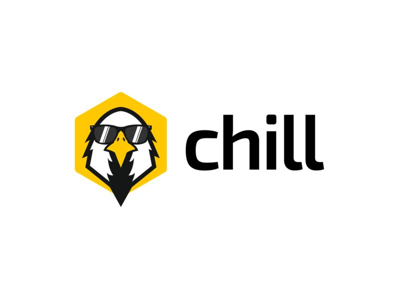 Chill - Logo Design shades branding eagle bird logo animal logo icon logo design design logo chill