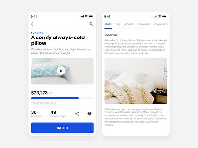 Crowd Funding App - UI sketchapp uichallenge crowdfunding dailyui funding ui design uiux android app ux design ui