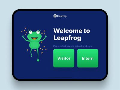 Front Desk App uiux web design face recognition ai ui app design app