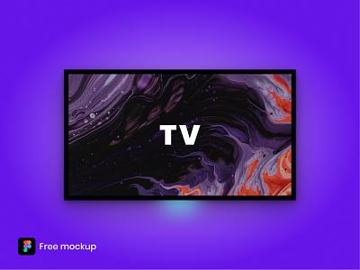 TV Mockup - Figma Freebie freebie tv free figma free figma mockup tv mockup mockup free tv figma