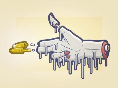 Handgun design graphic illustration