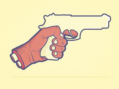 Handgun II hand gun graphic design design graphic illustration