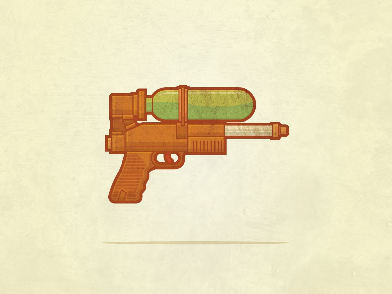 The Derringer derringer super soaker gun texture illustration graphic design vector
