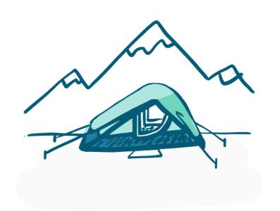 Camping spot illustration camping illustrator