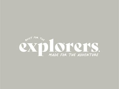 Brand Concept    Explorers explorers explorer adventures adventure outdoors logo graphic design branding design outdoor logo brand identity brand design