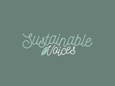 Concept Logo   Sustainable Voices green logo eco friendly eco logo sustainability environmentalism logo design ecofriendly