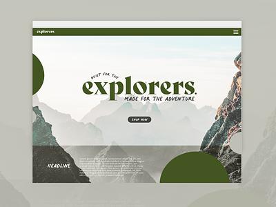 Built for the Explorers   Website Concept go explore explore outdoors adventure website concept outdoor website website