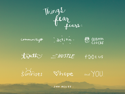 Day Fourteen quotes hand-lettering design