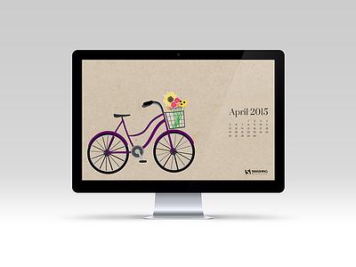 A spring bike ride illustration digital illustration bike spring calendar
