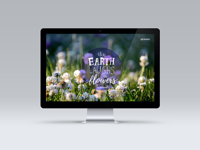 The earth laughs in flowers calendar wallpaper photography hand-lettering