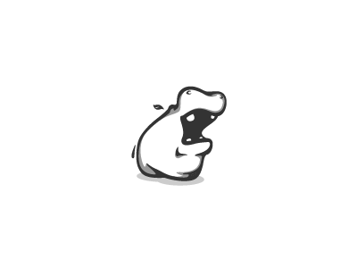 Loud Hippo! mouth illustration design hippo loud bw mascot logo animal