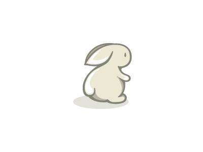 Babliss fluffy design kids logo simple cute children baby bunny rabbit