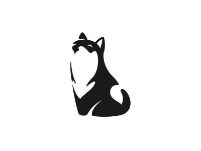 Shiba Inu vector design logo tail negative space dog shiba inu