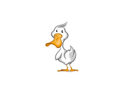 Duck design bird character mascot cartoon illustration duckling duck