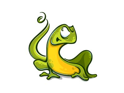 Lizard design illustration character cartoon reptile gecko chameleon lizard