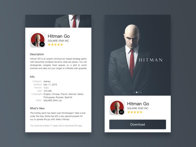 Hitman  appstore gamecenter app description ui game hitman