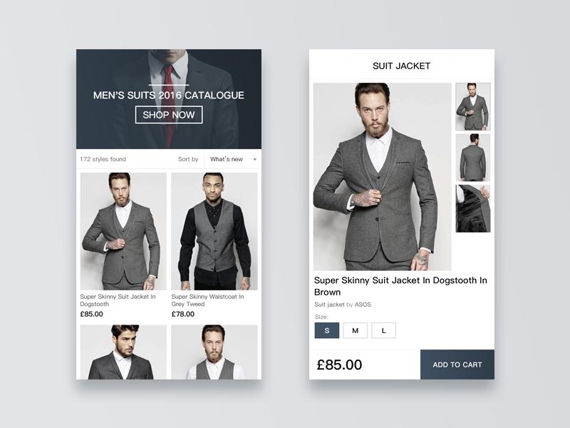 Suit Shop buy store gallery cloth cart shop catalogue men suit